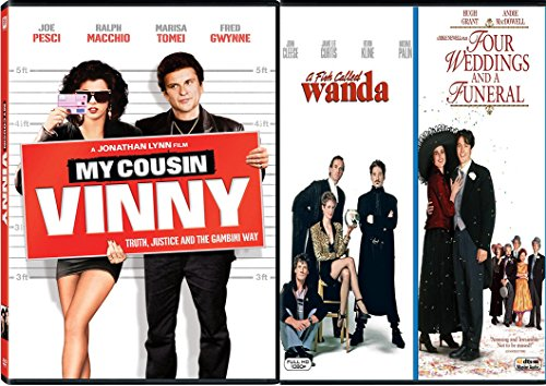 My Cousin Vinny + A Fish Called Wanda & Four Weddings & a Funeral DVD Fun movie Set 3 pack Family collection