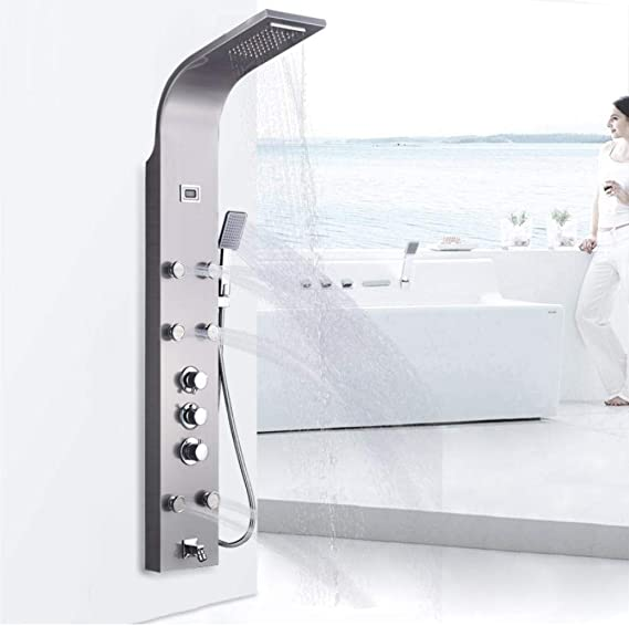 Panel de ducha termostático de baño Columna de ducha de torre de ...