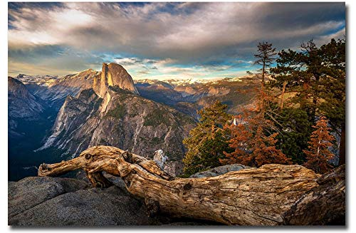 - Glacier Point Yosemite Valley Landscape Vista Sunset Refrigerator Magnet Size 2.5