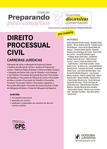 Direito Processual Civil: Carreiras Jurídicas - Questões Discursivas Comentadas