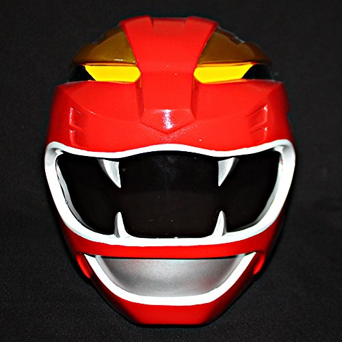 1:1 Halloween Costume Cosplay Power Ranger Helmet Mask Red Sentai Gaoranger Gao PR10 (Power Rangers Helmet)
