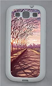 Samsung Galaxy S3 I9300 Case,Samsung Galaxy S3 I9300 Cases - landscapes nature road 70 TPU Polycarbonate Hard Case Back Cover for Samsung Galaxy S3 I9300¨CWhite