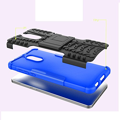 Nokia 6 Case, Skmy Shockproof Impact Protection Tough Rugged Dual Layer Protective Case Cover with Kickstand for Nokia 6 (Blue) by Skmy (Image #2)