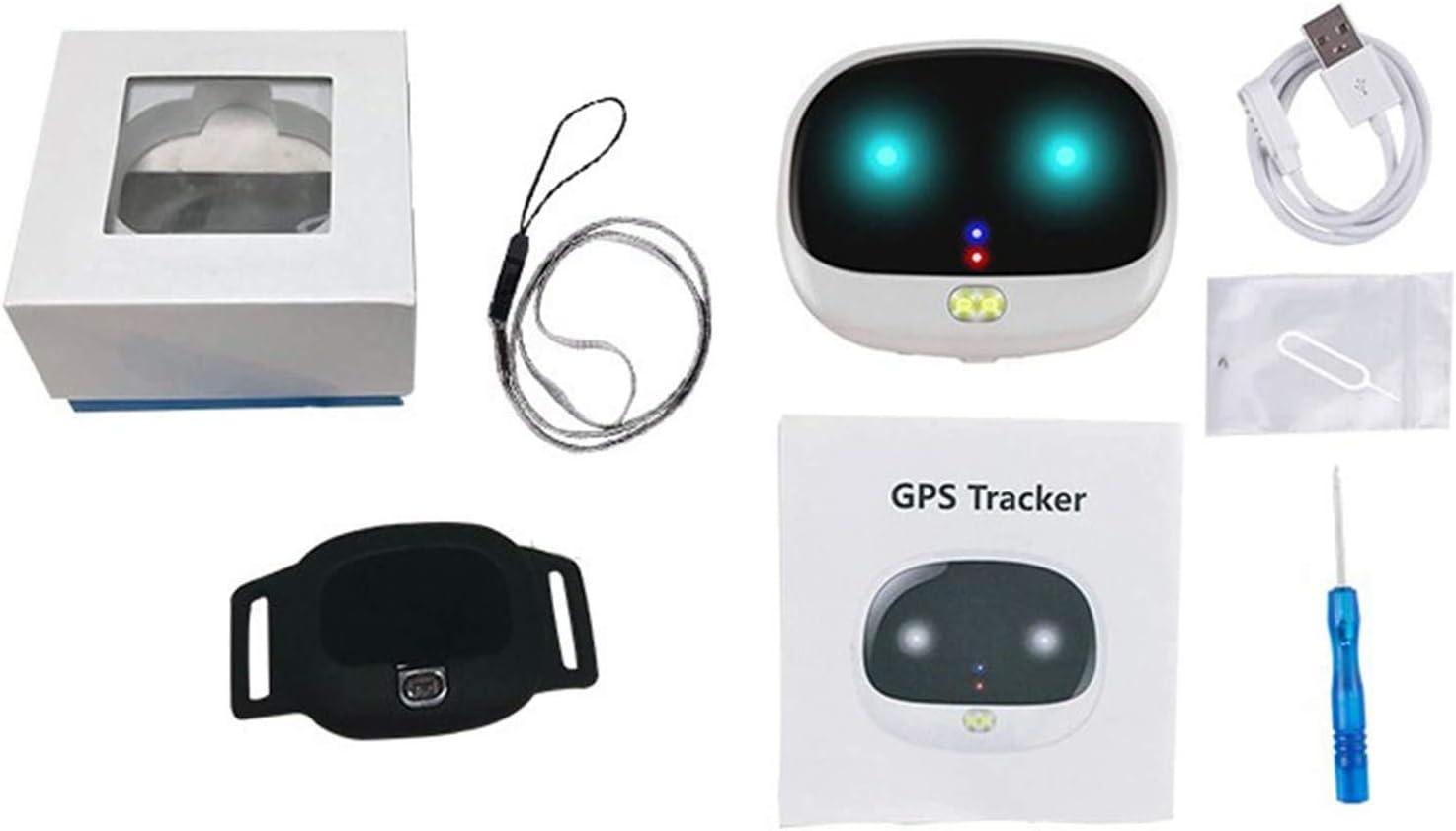 TOPQSC Rastreador GPS para perros, dispositivo de seguimiento en tiempo real, rango ilimitado, control de aplicación para perros y gatos