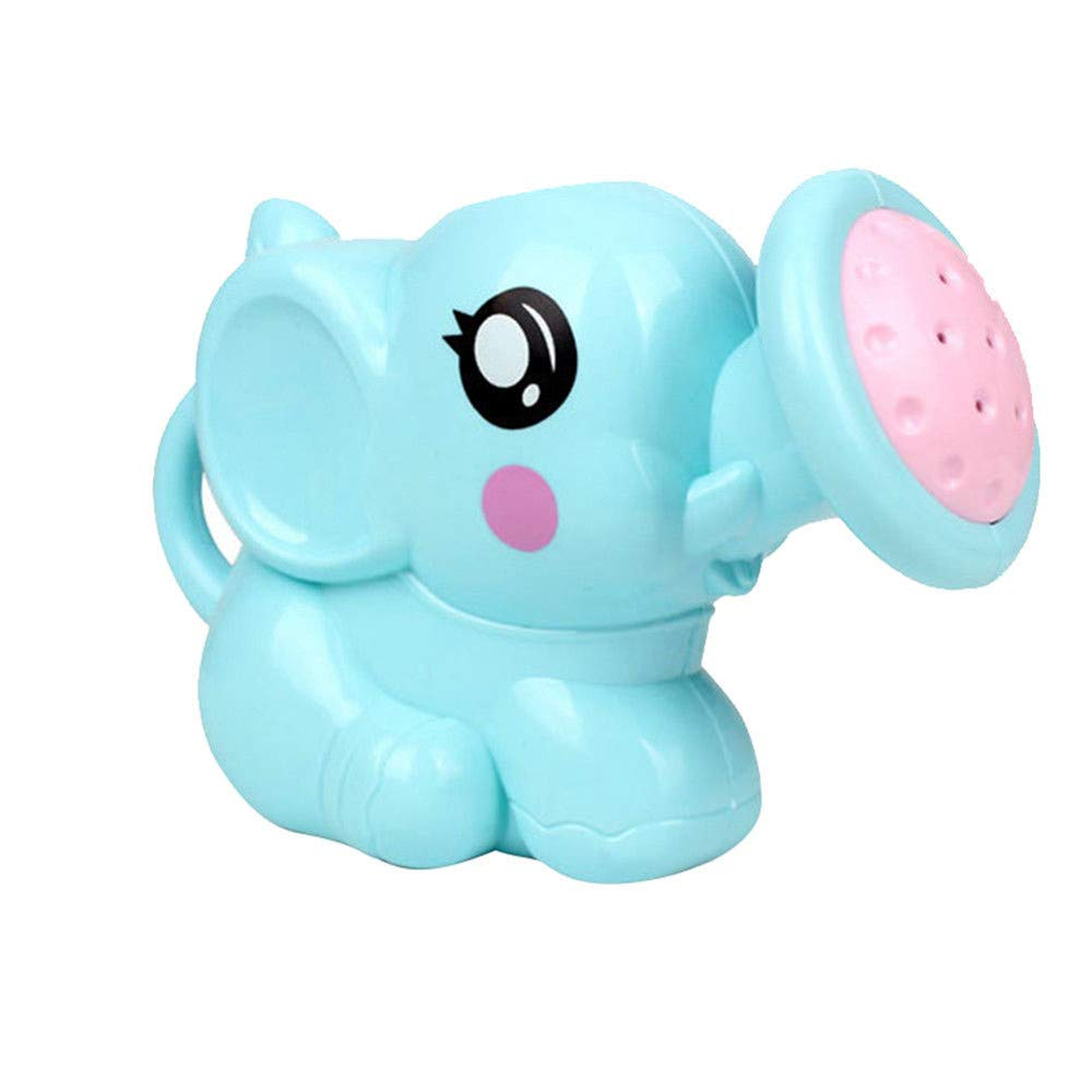 Gbell Fun Bath Toys for Toddlers - Kid's Elephant Water Bath Shower Kettle Tub Bathroom Playing Bath Toys for Boys Girls Baby Toddlers Infant Newborn Age 1-6 Years Old (Blue)