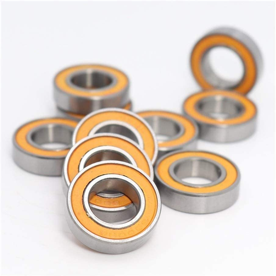 10PCS 10195 mm Thin Section 6800-2RS Ball Bearings 61800 RS 6800 2RS with Orange Sealed L-1910DD no logo Durable Bearing 6800RS Bearing ABEC-3