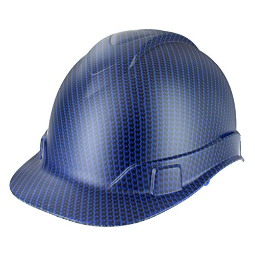 Custom Hydrographic Blue Carbon Fiber Pyramex Ridgeline - Hard Pyramex Custom Hat Printed