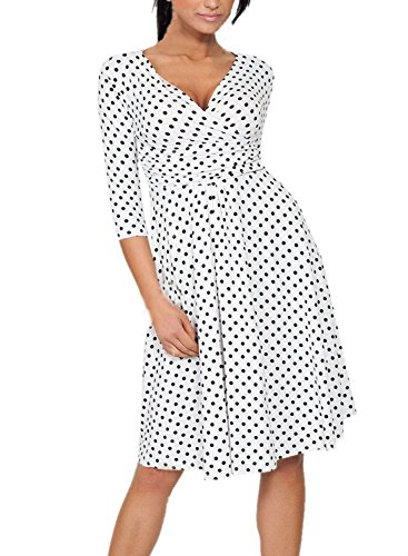 YEEZ Womens V Neck Maternity Cocktail