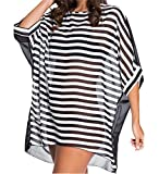 img - for Eternatastic Women's Swimwear Tankini Oversized Cover-up Baggy Beach Dress M Striped book / textbook / text book
