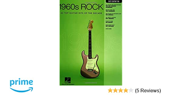 Amazon.com: 1960s Rock: Easy Guitar with Notes & Tab (Easy Guitar ...