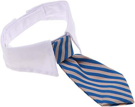 LOVIVER Perro Gato Corbata Collar Cuello De Rayas Lindo Corbata De Lazo Camisa De Esmoquin De Bowtie - Gris Azul: Amazon.es: Juguetes y juegos