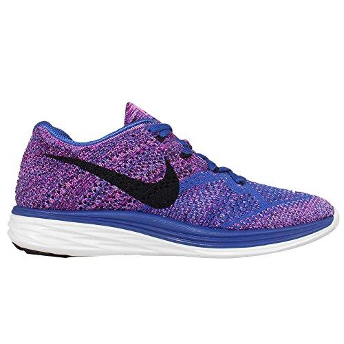 Damen Nike Flyknit Lunar3 Lila Blau Damen Laufschuh 698182 405