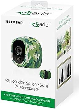 Arlo Zertifiziertes Zubehör Silikonbezüge 3er Set Camouflage Grün Schwarz Geeignet Für Arlo Hd Kabellose Überwachungskamera Vma1200 Baumarkt