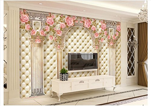 Mznm 3D European Style Mural Photo Wallpaper Luxury Roman Pillars Soft Pack Tv Sofa Background Wall Home Decoration Painting -200X140Cm by Mznm (Image #3)