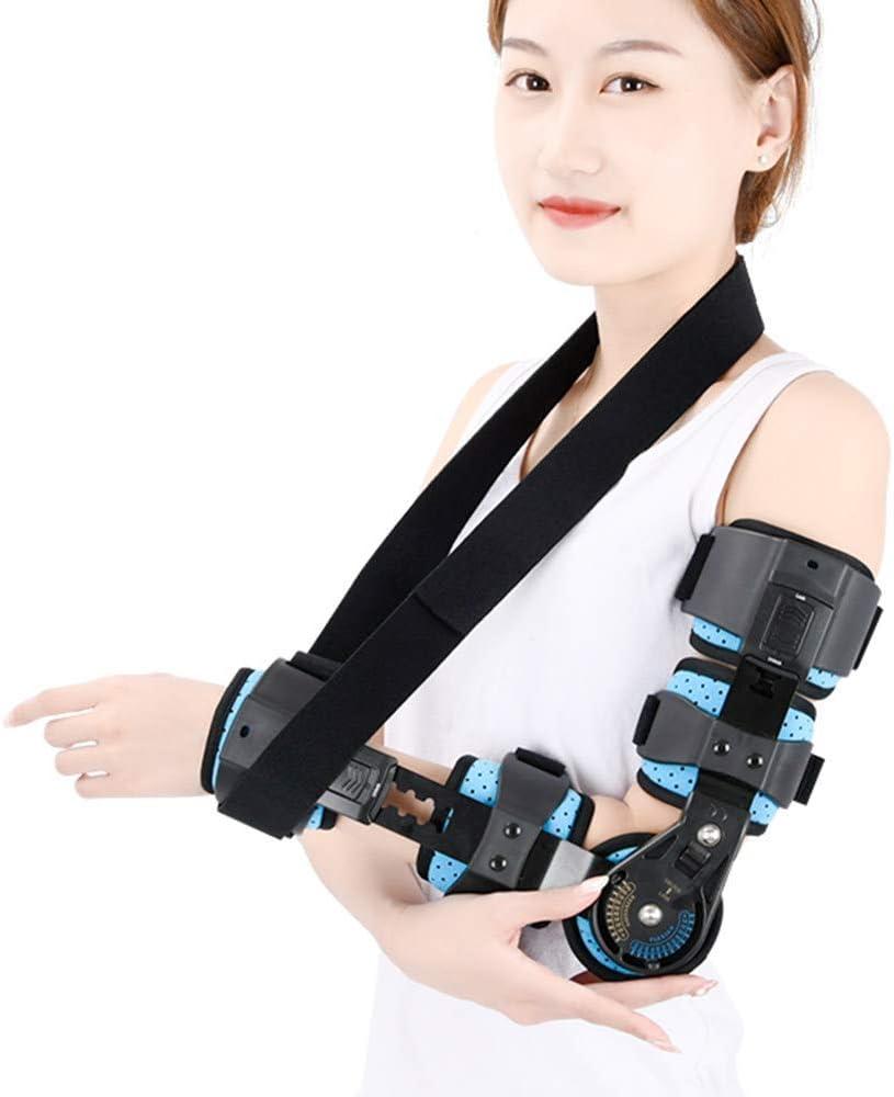 NADAEN Ortesis de Codo articulado Soporte ortopédico Ortesis de recuperación de Lesiones postoperatorias Rango de Movimiento Ajustable - para la tenditis al Artritis y el Codo de tenista