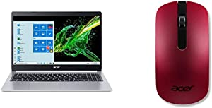 "Acer Aspire 5 A515-55G-57H8, 15.6"" Full HD IPS Display, 10th Gen Intel Core i5-1035G1 with Acer Slim Wireless Optical Mouse - Red"