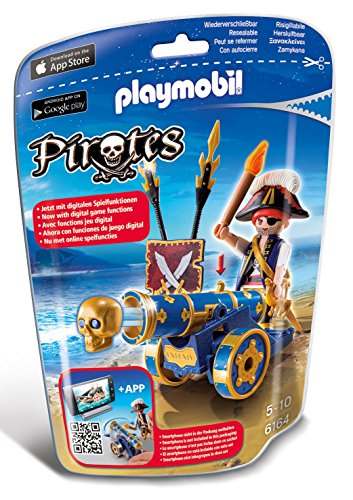 PLAYMOBIL Blue Interactive Cannon with Pirate