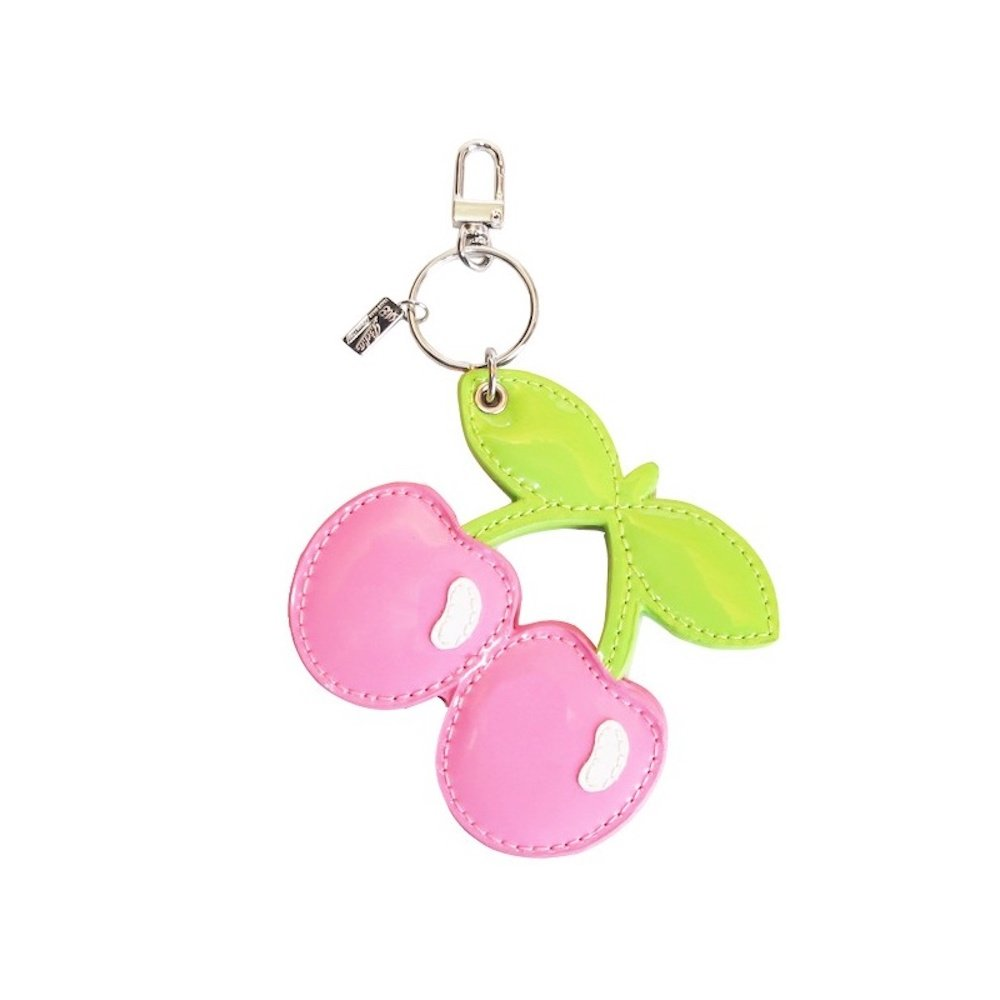 Pacha: Pink Cherry Keyring with Compact Mirror - Pink, One Size