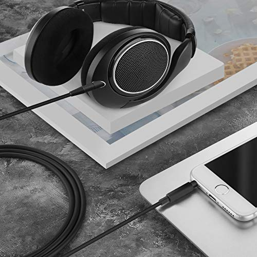 Apple compatible con iPhone Cable para auriculares Sennheiser HD598//HD558//HD518//HD598 Cs//HD598 SR//HD599//HD569//HD579//HD518 SE FeiYen control remoto de volumen y micr/ófono iPad iPod