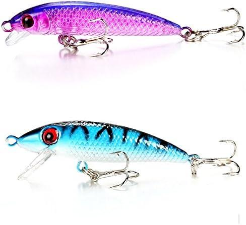 Leuchtend Fischen Köder Zündkerzen Wobbler Haken Barsch Köder Gerät