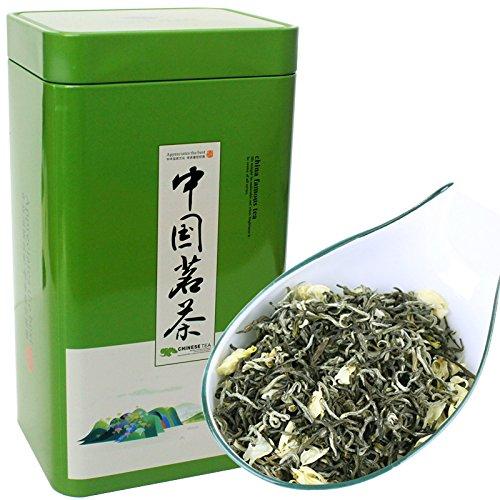 Aseus Bai incense set 2017 new tea Jasmine Tea (tribute) floating snow Luzhou 500g canned green shipping