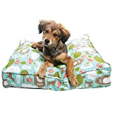 Premium Memory Foam Dog Beds with Removable Cotton Outer Cover and Waterproof Interior | Perfect for Small Dogs and Medium Dogs | Proudly Made in the USA | Steaks & Play, Medium (27″ x 36″) For Sale