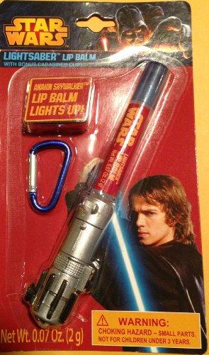 Price comparison product image Star Wars Lip Balm Luke Skywalker Light Up Light Saber With Carabiner Clip