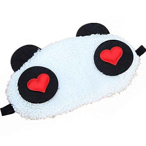 MUANI Preciosa Negro Blanco de la Panda de Viajes para Ojos y Rostro máscara para Dormir