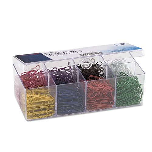 Officemate 97228 Plastic Coated Paper Clips, No. 2 Size, Assorted Colors, 800/Pack