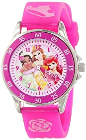 Disney Kids' PN1051 Disney Princess Watch with Pink Band