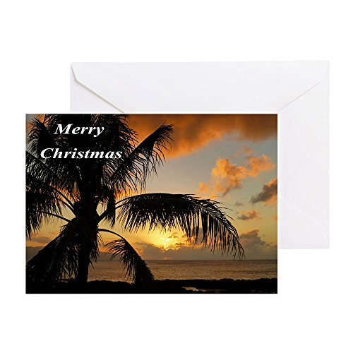 CafePress - Sunset North Shore Oahu - Greeting Card, Note Card, Birthday Card, Blank Inside - Sun Shore North