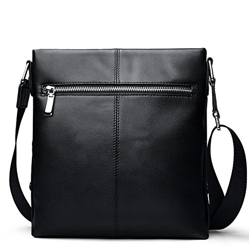 Padieoe Handbags 4h Shoulder Bag Messenger Men Black Leather Bags black Backpack Crossbody Chest Nb151222 Satchel For Sling r8RZwrfWIq