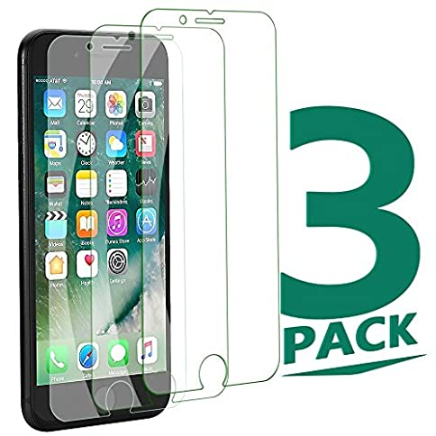 - 51 2BdxcN060L - [3Pack] iPhone 8/7 Plus Tempered Glass Clear Sreen Protector, No Bubble Not Full Coverage Screen Protector for iPhone 8/7 Plus[Cover Flat Area]