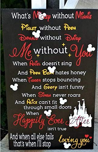 Amazon com: What's Mickey Without Minnie, Wedding Sign