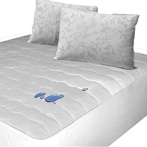 Cozy Quarters Inc 4 x 200TC Thread Count Cotton Polygel Filled Mattress Pad Full White ()