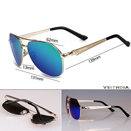 VEITHDIA 3559 HD Visual UV400 polarizadas gafas de aviador para conducción de pesca: Amazon.es: Ropa y accesorios