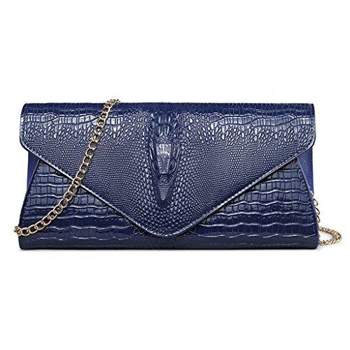 à Main Du Envelope Pochette fanbufan Soir Soirée Embrayage Pochette blue Femme Sac UB4wxv