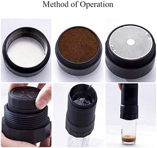 Portable Koffiezetapparaat, Manual espressomachine Compatibel met gemalen koffie for thuiskantoor Travel Outdoor Camping peng