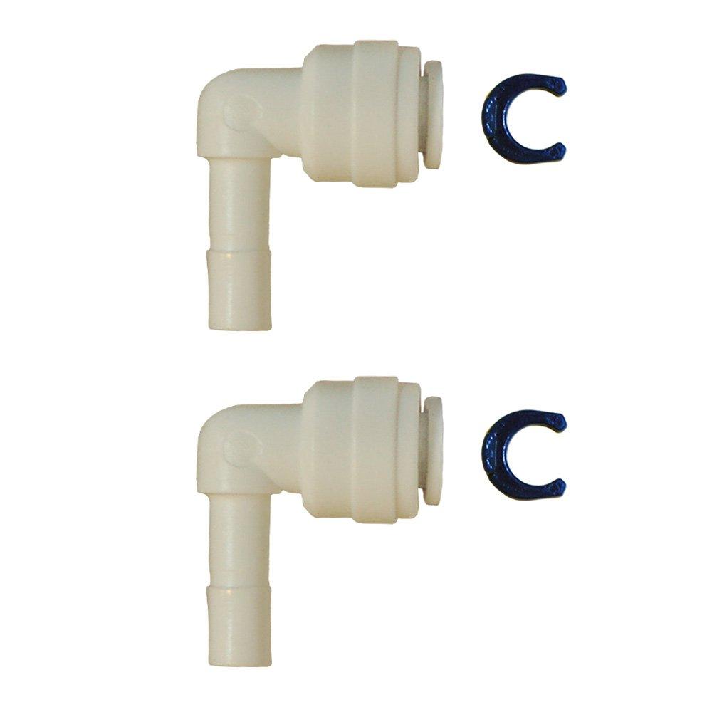 1/4'' Tube x 1/4'' Stem Elbow Fitting, white, set of 2