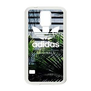 Adidas Originals caso Q8N05P4SY funda Samsung Galaxy S5 funda Y1Q4Q7 blanco