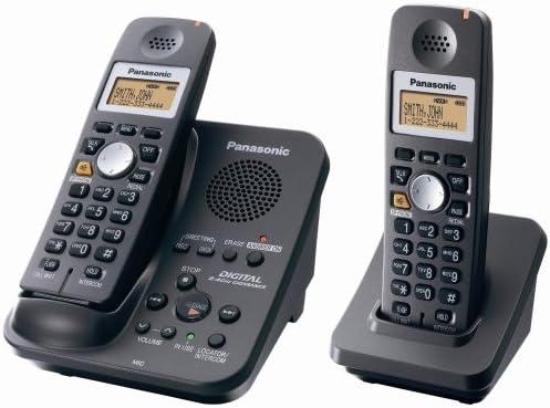 Panasonic KX-TG3032B 2.4 GHz teléfono inalámbrico w/Digital contestador automático y 2 teléfonos: Amazon.es: Electrónica
