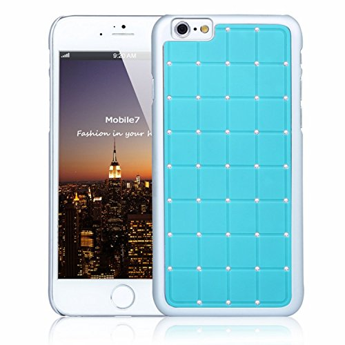 Brilliant Style Apple Iphone 6 LUXURY CRYSTAL Cross Diamond Blue Case Bling Hard Cover with White Frame For Apple Iphone 6 By G4GADGET®