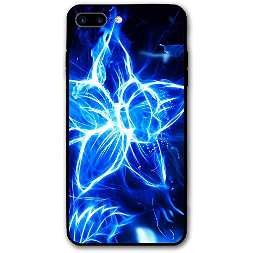5.5Inch iPhone 8 Plus Case Blue Fire Painting Anti-Scratch Shock Proof Hard PC Protective Case Cover