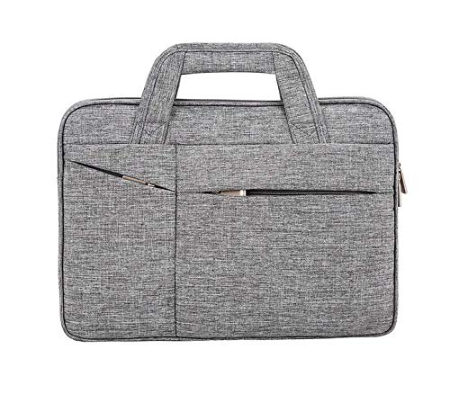 HzYisida TM 13.3~14 inch Laptop Bag, Business Travel Nylon Carrying Sleeve Briefcase for Laptop,Tablets, 2in1 Convertibles, Ultrabooks, Notebook, Chromebooks & Netbook Computers (Gray)
