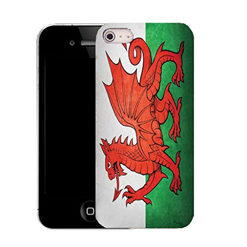 "Mobile Case Mate IPhone 6S 4.7"" clip on Silicone Coque couverture case cover Pare-chocs + STYLET - welsh flag pattern (SILICON)"