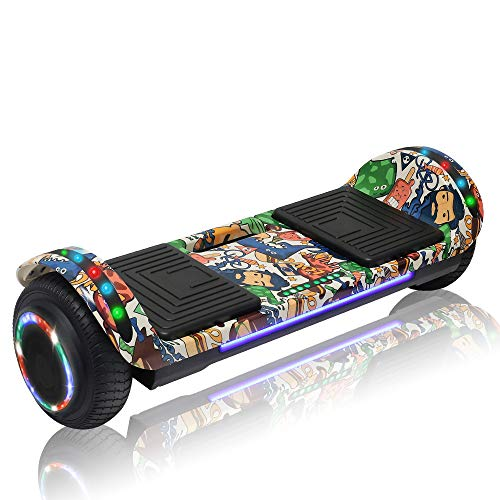 CHO POWER SPORTS Hoverboard Hover Board Electric Scooter Two-Wheel Smart Self Balancing Wheels with Built in Speaker LED Lights