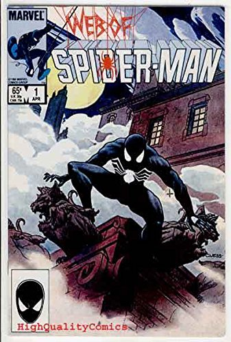 WEB of SPIDER-MAN 1, VF/NM, Charles Vess, Black Costume, 1985, more SM in store -