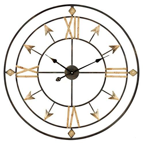 Aspire 5049 Kiara Arrow Wall Clock, Gray (Arrow Clock)