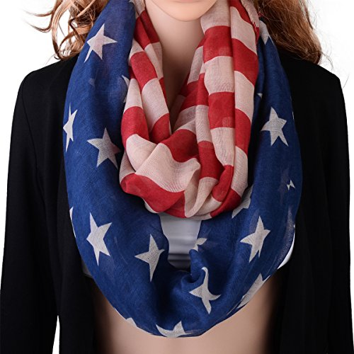 Pop Fashion American Flag Infinity Scarf - USA Scarves