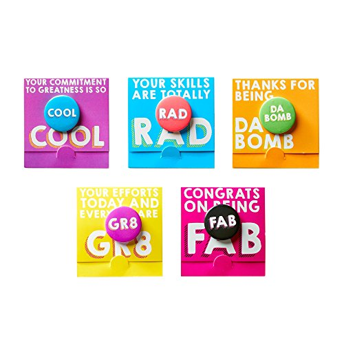 Motivational Bravo Pin Pack - Team & Employee Appreciation and Recognition Gifts- 100% Awesome